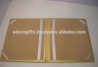 File Certificate Holder / Leather Golden Color Certificate Holder