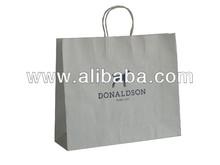 2014 New hot sell promotional white kraft paper bag