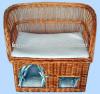 the newest style wicker pet basket wholesale
