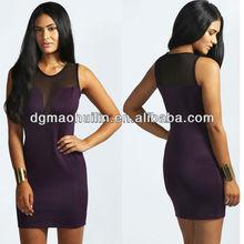 high fashion womens clothing of ladies mesh bodycon dress