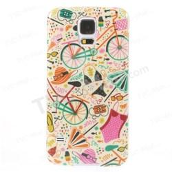 Bike & Bikini Little Things Pattern IMD For Samsung Galaxy S5 TPU Covers