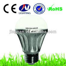 High Quality 5W G60 b22 led light bulb 420LM 230V tuning light