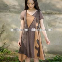 2014Summer dress women, plus size front short and long back dress