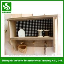 Eco-friendly Antique Wood Wall Shelf Units