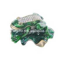2014 New Product High Quality Crystal Rhinestone Frog Trinkets (QF582)