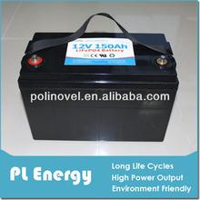 truck batteries 12v 150ah lifepo4 pack e-boat yacht