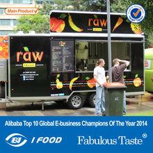 big wheels sliding windows food cart trailer/food van/gas food cart