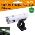 CREE 3W LED de alta potencia luz delantera de Bicicleta