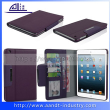 Mini cover leather case for ipad with credit card holder
