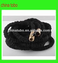 European style black anti-abrasion flexible hose with valve