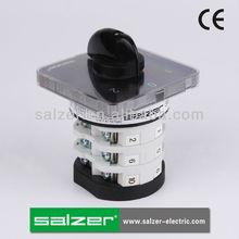 Salzer aprobado por la ce sab32 1-0-2 3 posición del interruptor giratorio