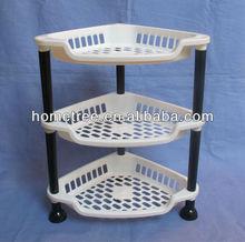 2014 new kitchen 3-layer plastic storage shelf