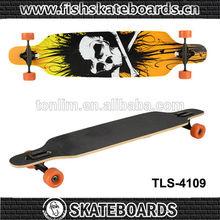 2014 New Design Best :Cruiser Complete Longboard Canadian SKull Printing Skate Maple wood Longboard
