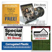 Corrugated Corflute Plastic Signs 1200x600mm /Full colour true photo quality digital print