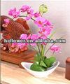 home da decoração da flor artificial de orquídea borboleta