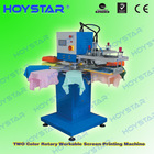 2 Color rapid rotary automatic screen printing machine for socks