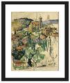 لوحات بالألوان المائية الشهيرة سيزان بول/ قرية gardanne الطبيعية لوحات المناظر الطبيعية للنفط