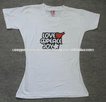 White Newest Design Fashion Womans T-Shirt / Cotton Tshirt