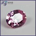 Brasil de color rosa en forma de óvalo sueltas piedras de la cz, con encanto original de circonio cúbico suelto joya precio de lista