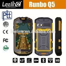 Runbo Q5 MTK6589T IP67 2GB RAM/32GB ROM Walkie Talkie Smartphone,haier w910 waterproof dual-sim nfc phone
