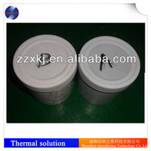 Two-component silicone pouring sealant with high thermal conductivity and good quality