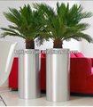 Fo-9005 aço inoxidável plantador da flor cilindro vaso de flores