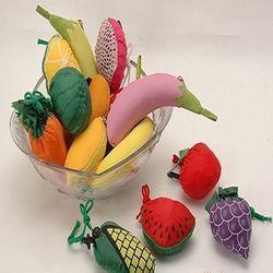 Folding Polyester Fruit shape Shopping Bags with logo