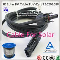 TUV 2 PfG 1169/08.2007 2.5mm2 pv solar cable solar panel 500w