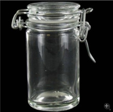 Glass clip lid jars with clamp/hinged lids