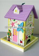 Garden Wooden decorative bird house--RBH1015