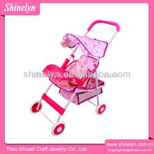 Shinelyn rosa fame e tecido dobrável fechaduras do cofre 4 rodas OEM graco duplo carrinho de criança