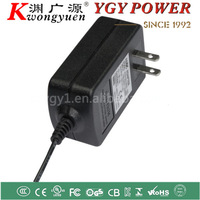 AC/DC Power adapter 12V 1A for electronic products with 18W max output and USA plug