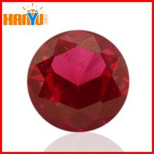 China hot sale wuzhou diamond synthetic corundum round shape #5 ruby