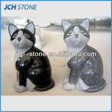 Black and grey nature granite animal cat stone sculpture