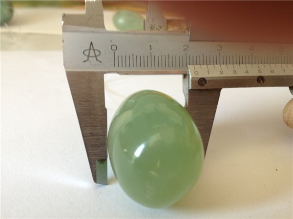 Set/3 drilled nephrite jade stone sex toy for sex stamina