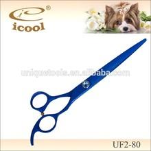 UF2-80 Blue Titanium Coated Pet Hair Cutting Scissors