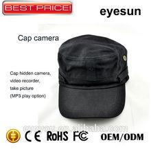 Cheap 720Pixels Helmet Hidden Camera,Remote Control,Hat Video Recorder Kamera,MP3 Play