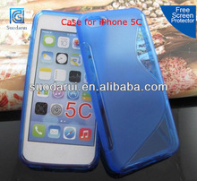 For Apple iPhone 5C TPU Gel Jelly S Line Cover Case mobilephone accessories
