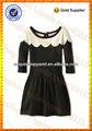 100% malha de algodão moderna adolescente meninas vestido made in china