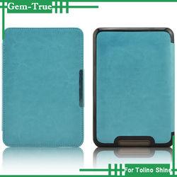 Newest design leather case for Tolino shine PC hard cover