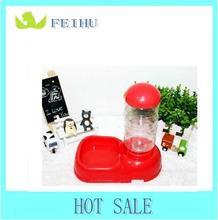 colorful 450ml pet Plastic water/ food feeding dispenser