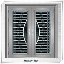 Modern main door design super size stainless steel exterior double door