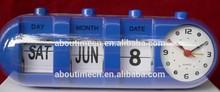 Modern flip calendar alarm clock for decor,table clock with calendar