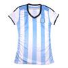 v neck 100% polyester wholesale custom striped football t-shirts