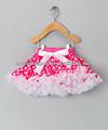 ярко-розовый горошек лук оптовых опухшие пачки pettiskirt- младенческой& малыша& девочек( 1- 11)
