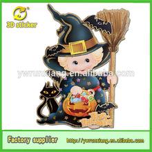 Wholesale 3D Halloween Product,2014 New Halloween Decorations,Halloween Kids Wizard with Brooms