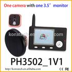3.5 inch 2.4GHz digital wireless peephole viewer security door camera