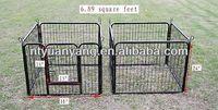 New Black 8 Panel Heavy Duty Pet Playpen Dog Exercise Pen Cat Fence