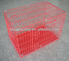 foldable crate pet house foldable crate red foldable wire pet cages crate kennel dog house