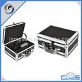 customed nuevo profesional negro de dos lados abiertos mango de aluminio caja de herramientas caja de herramientas caja de herramientas en el pecho
